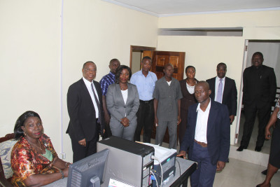 Home Based and Local staff at the Embassy's Lobby