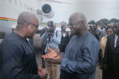 His Excellency the President of  Sierra Leone welcomes  His excellency  the President of Ghana