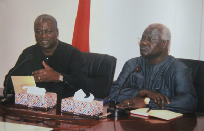 Bilaterall talks between His Excellencies the President of Ghana and Sierra Leone