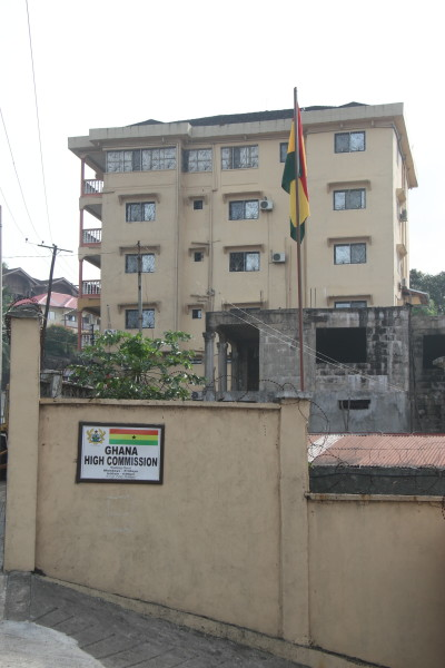 Front view of the Ghana High Commission Building