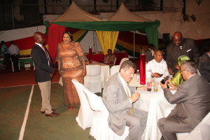 Cross section of diplomats and dignitaries hosted to a reception by the Ghana High Commissioner  during the celebration of Ghana's